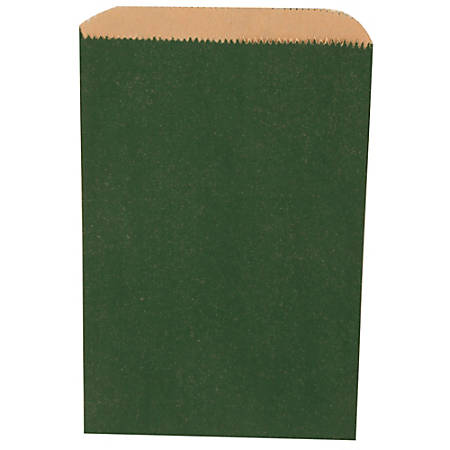 """JAM Paper® Small Merchandise Bags, 9-1/4""""H x 6-1/4""""W x 1/2""""D, Green, Pack Of 1,000 Bags"""