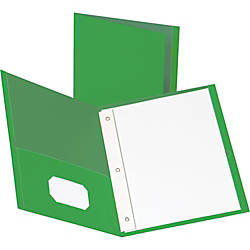 Business Source Storage Pockets Fastener Folders