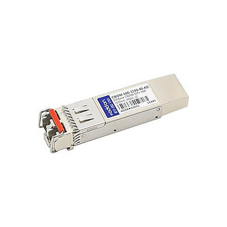 AddOn Cisco CWDM-10G-1590-40 Compatible TAA Compliant 10GBase-CWDM SFP+ Transceiver (SMF, 1590nm, 40km, LC) - 100% compatible and guaranteed to work