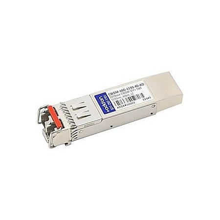 AddOn Cisco CWDM-10G-1590-40 Compatible TAA Compliant 10GBase-CWDM SFP+ Transceiver (SMF, 1590nm, 40km, LC)