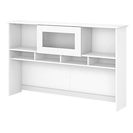 """Bush Furniture Cabot 60"""" Hutch, White, Standard Delivery"""