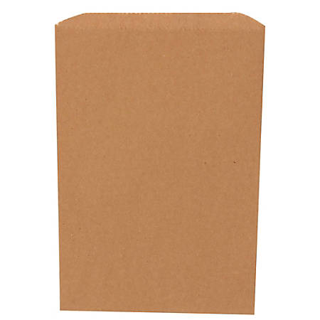 "JAM Paper® Small Merchandise Bags, 9-1/4""H x 6-1/4""W x 1/2""D, Kraft Brown, Pack Of 1,000 Bags"