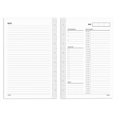 "TUL™ Custom Note-Taking System Discbound Undated Daily Refill Pages, 5-1/2"" x 8-1/2"", Undated, 50 Sheets"