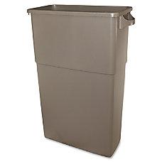 Thin Bin 23 gal Beige Container