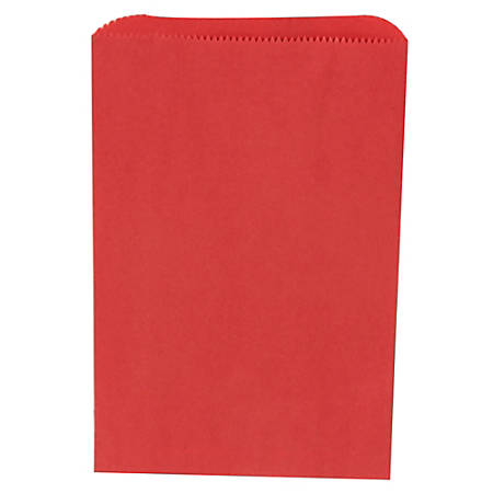 """JAM Paper® Small Merchandise Bags, 9-1/4""""H x 6-1/4""""W x 1/2""""D, Red, Pack Of 1,000 Bags"""