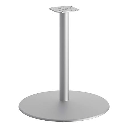 "HON® Disc Base For Sitting-Height Between Table, 27-13/16""H x 30""W x 30""D, Nickel"