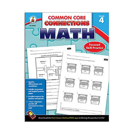 Carson-Dellosa Common Core Connections Math, Grade 4