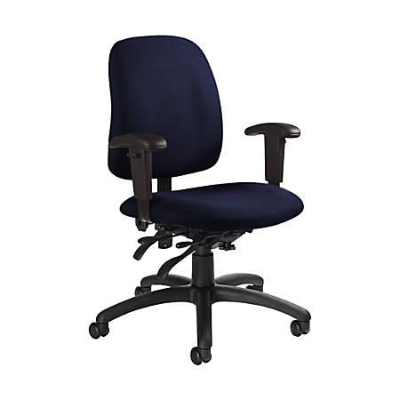 "Global® Goal Low-Back Multi-Tilter Chair, 36""H x 25""W x 22 1/2""D, Midnight/Black"
