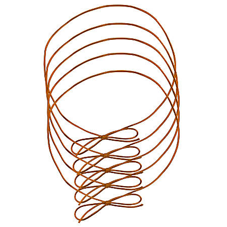 "JAM Paper® Large Elastic Gift Wrap String Ties, 22"", Metallic Copper, Pack Of 5 Ties"