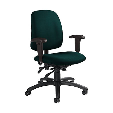 "Global® Goal Low-Back Multi-Tilter Chair, 36""H x 25""W x 22 1/2""D, Spruce/Black"