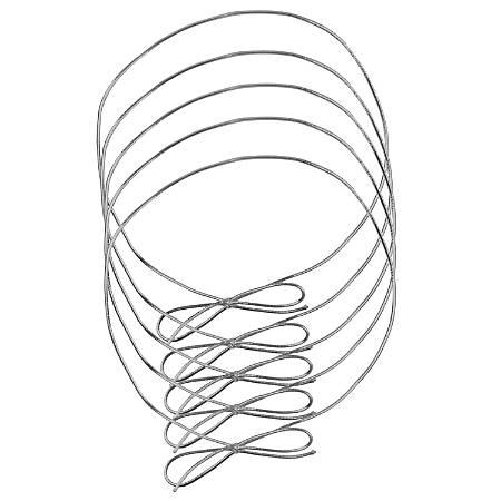 """JAM Paper® Large Elastic Gift Wrap String Ties, 22"""", Metallic Silver, Pack Of 5 Ties"""