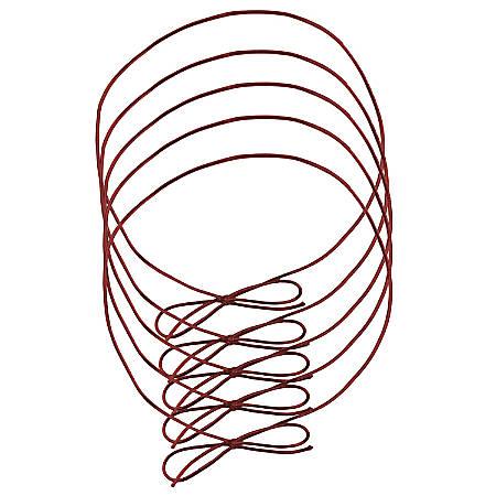 """JAM Paper® Medium Elastic Gift Wrap String Ties, 16"""", Red, Pack Of 5 Ties"""