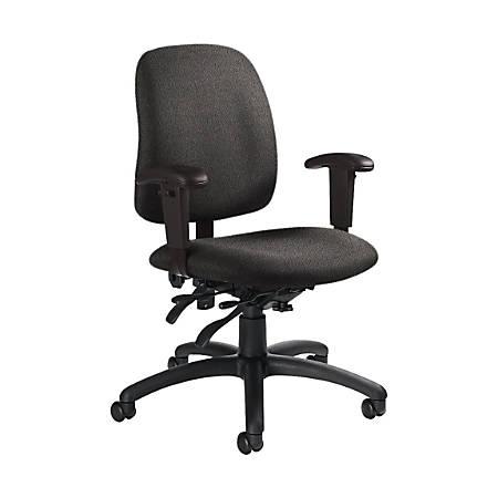 "Global® Goal Low-Back Multi-Tilter Chair, 36""H x 25""W x 22 1/2""D, Slate/Black"
