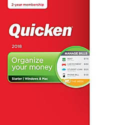 Quicken Starter 2018 2 Year Download