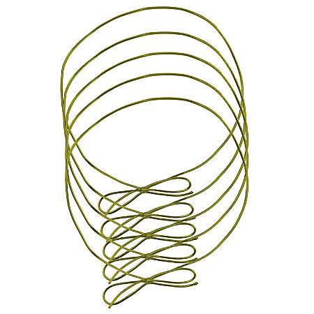 "JAM Paper® Small Elastic Gift Wrap String Ties, 10"", Gold, Pack Of 5 Ties"