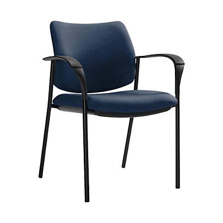 "Global® Sidero Armchair, 32""H x 25 1/2""W x 24""D, Blue Bayou/Black"