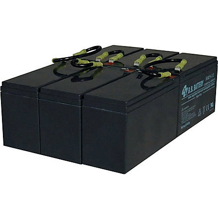 """Tripp Lite 3U UPS Replacement Battery Cartridge 72VDC for select SmartOnline UPS Systems 1 set of 6 - 72V DC - Spill Proof, Maintenance Free Lead Acid"""""""