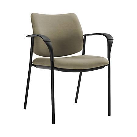 "Global® Sidero Armchair, 32""H x 25 1/2""W x 24""D, Sandcastle/Black"