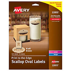 Avery Print to the Edge Oval
