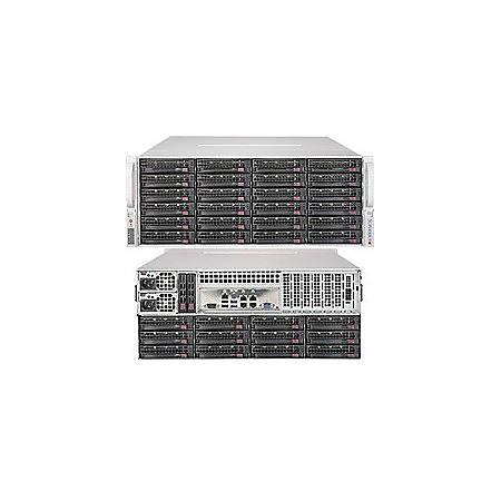 Supermicro SuperStorage 5048R-E1CR36L Barebone System - 4U Rack-mountable - Intel C612 Express Chipset - Socket LGA 2011-v3 - 1 x Processor Support - Black
