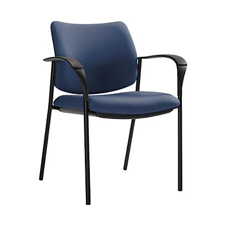 "Global® Sidero Armchair, 32""H x 25 1/2""W x 24""D, Admiral/Black"