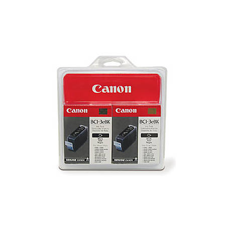 Canon BCI-3e Black Ink Cartridges (4479A271), Pack Of 2