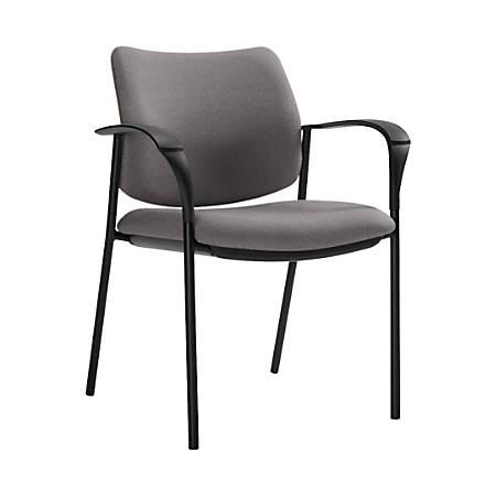 "Global® Sidero Armchair, 32""H x 25 1/2""W x 24""D, Slate/Black"