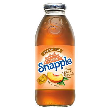 Snapple Peach Tea, 16 Oz, Pack Of 12