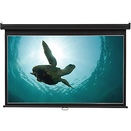 "Quartet® Wide Format Projection Screen, 16:9 Aspect Ratio, 65"" x 116"", Wall Mount - 16:9 - Matte White - 65"" x 116"" - Wall Mount"