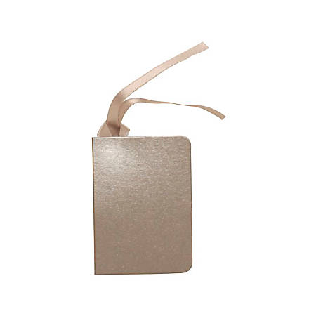 """JAM Paper® Small Gift Tags, 3-1/4"""" x 1-9/16"""", Silver, Pack Of 10 Tags"""
