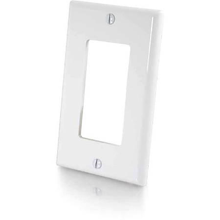 C2G Decorative Cutout Single Gang Wall Plate - White