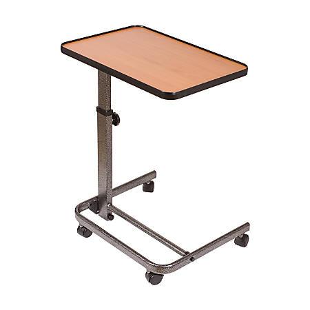 """DMI® Deluxe Tilt-Top Overbed Table, 38""""H x 23""""W x 15""""D, Brown"""