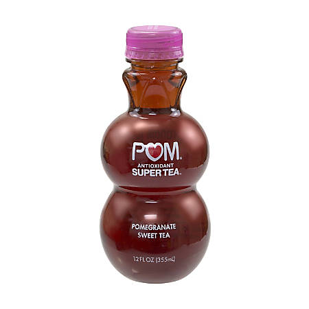 Pom Antioxidant Super Tea Pomegranate Tea, Sweet Tea, 12 Oz, Pack Of 6 Bottles