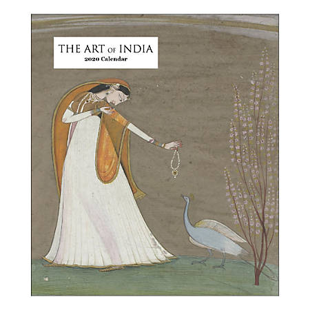 """Retrospect The Art Of India Monthly Desk Calendar, 6-1/4"""" x 5-1/2"""", January To December 2020, YCD 057-20"""