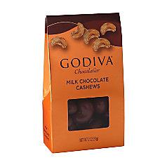 Godiva Milk Chocolate Cashews 2 Oz