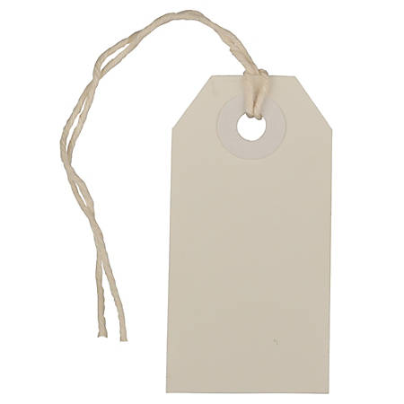 "JAM Paper® Tiny Gift Tags, 3-3/8"" x 2-3/4"", White, Pack Of 10 Tags"