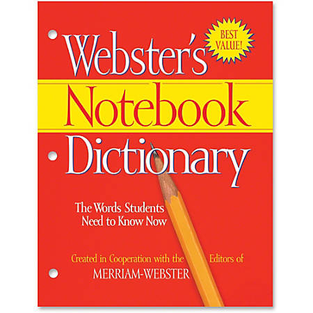 Merriam-Webster Notebook Dictionary Dictionary Printed Book - English - Book - 80 Pages