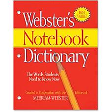 Merriam Webster Notebook Dictionary