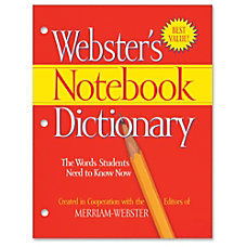 Merriam Webster Notebook Dictionary Dictionary Printed