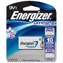 Energizer Ultimate 9 Volt Lithium Battery