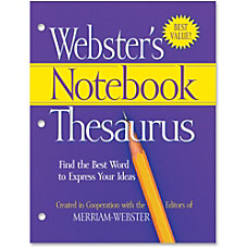 Merriam Webster Notebook Thesaurus Dictionary Printed