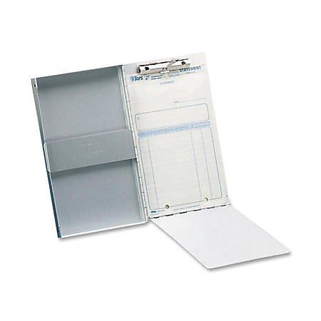 """Saunders® Snapak™ Aluminum Side-Opening Form Holder, 5"""" x 8"""", Silver, 89% Recycled"""