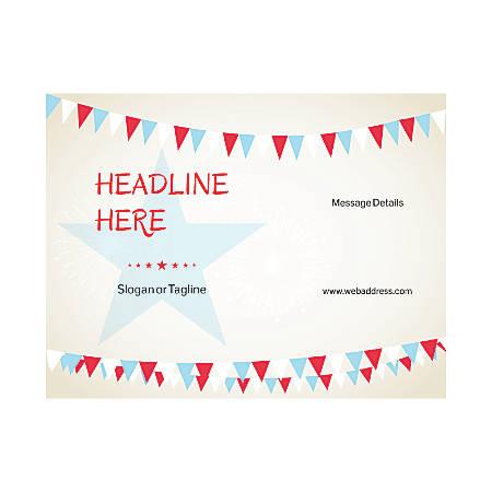 Custom Flyer, Horizontal, Star With Banner