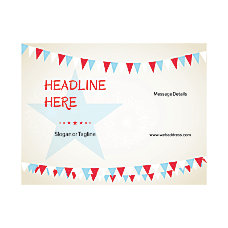 Custom Flyer Horizontal Star With Banner