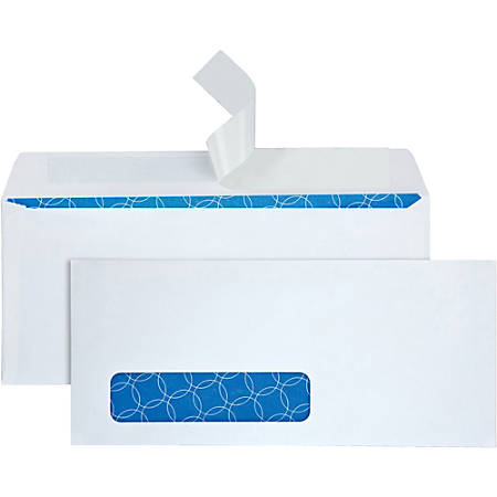 "Quality Park® Antimicrobial Security Window Envelopes, #10, 4 1/8"" x 9 1/2"", White, Box Of 500"
