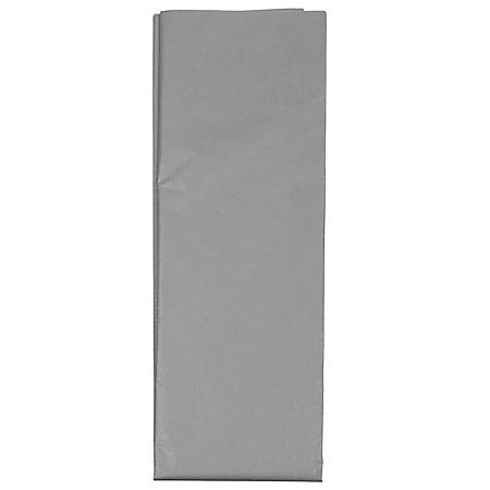 "JAM Paper® Tissue Paper, 26""H x 20""W x 1/8""D, Silver, Pack Of 10 Sheets"