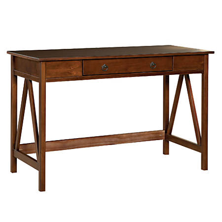 Linon Home Decor Products Titian Desk, Antique Tobacco