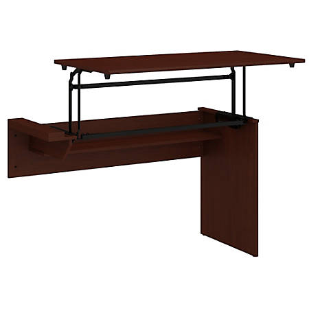"Bush Furniture Cabot 3 Position Sit to Stand Desk Return, 42""W, Harvest Cherry, Standard Delivery"
