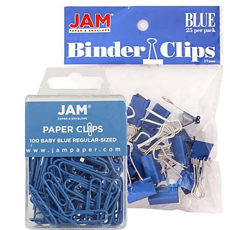JAM Paper® Clips Combo Kit, Regular/Small, Blue