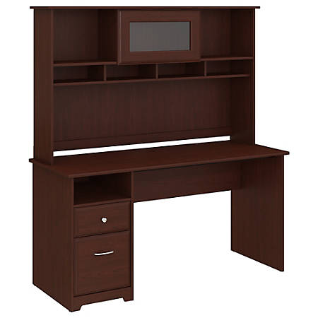 "Bush Furniture Cabot Computer Desk with Hutch and Drawers, 60""W, Harvest Cherry, Standard Delivery"